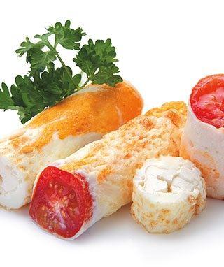 яичница-ролл с овощами