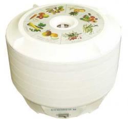 Электросушилка предназначена для сушки овощей, фруктов, рыбы, трав, грибов и сухариков в домашних условиях.